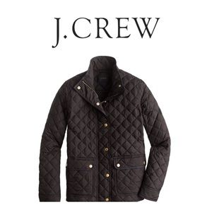 🆕 NWT J Crew Black Quilted Jacket (Women's Small)
